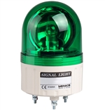 Menics 86mm Beacon Light, 24V, Green, Rotating
