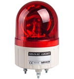 Menics 86mm Beacon Light, 24V, Red, Rotating