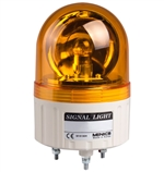 Menics 86mm Beacon Light, 24V, Yellow, Rotating