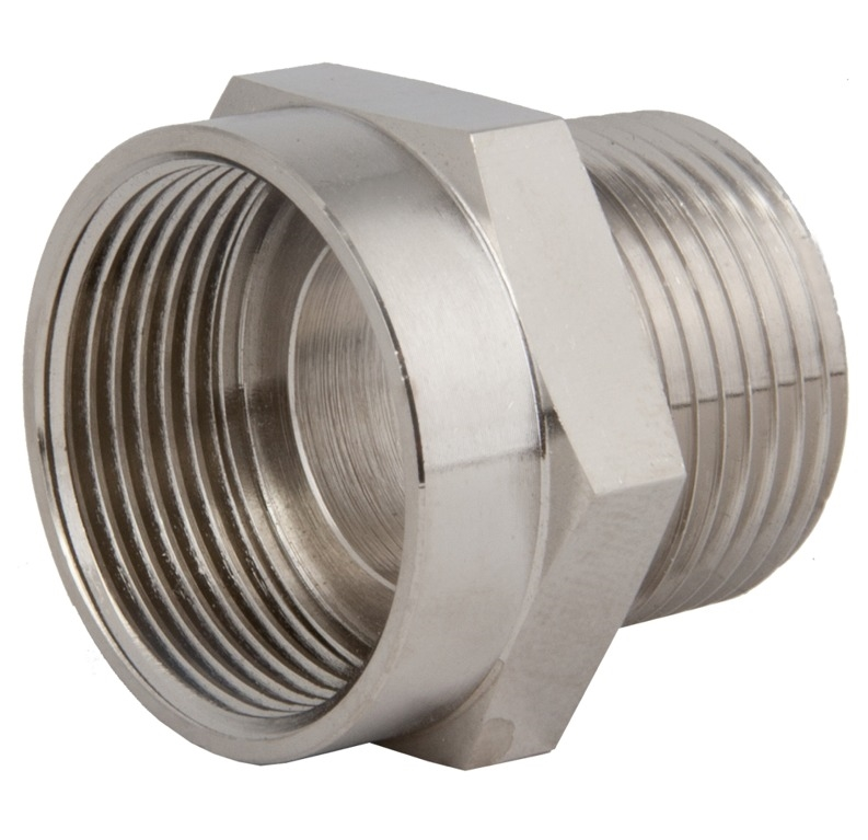 Nickel Plated Brass Adapter M20 to 1//2 NPT SEALCON AM-2012-BR-O AM2012BRO M20X1.5 MALE-1//2NPT Female