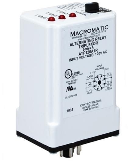 Macromatic Atp120a1r 120v Triplexor Alternating Relay