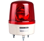 Menics 135mm Beacon Signal Light, 24V, Red, Rotating w/ Alarm