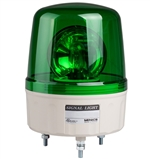 Menics 135mm Beacon Signal Light, 110V, Green, Rotating w/ Alarm