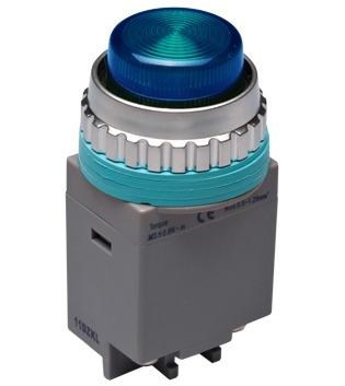 Kacon B30-17B-110VAC 30 mm Pilot Lamp, Blue, 110V