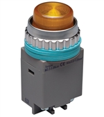 Kacon B30-17Y-110VAC 30 mm Pilot Lamp, Yellow, 110V
