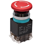 Kacon B30-81AR 30 mm E-Stop Switch, Waterproof