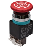 Kacon B30-81LR 30 mm E-Stop Switch, Safety Lock