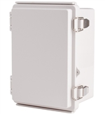 Boxco BC-AGP-131810 Hinged Lid Enclosure, Solid Gray, ABS Plastic
