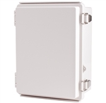 Boxco BC-AGP-162110 Hinged Lid Enclosure, Solid Gray, ABS Plastic