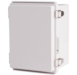 Boxco BC-AGP-162113 Hinged Lid Enclosure, Solid Gray, ABS Plastic