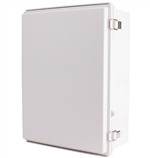 Boxco BC-AGP-354516 Hinged Lid Enclosure, Solid Gray, ABS Plastic