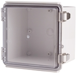 Boxco BC-ATP-151512 Hinged Lid Enclosure, Clear Cover, ABS Plastic