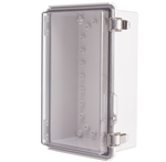 Boxco BC-ATP-162610 Hinged Lid Enclosure, Clear Cover, ABS Plastic