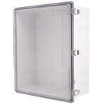 Boxco BC-ATP-506025 Hinged Lid Enclosure, Clear Cover, ABS Plastic