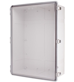 Boxco BC-ATP-507025 Hinged Lid Enclosure, Clear Cover, ABS Plastic