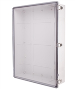 Boxco BC-ATP-608018 Hinged Lid Enclosure, Clear Cover, ABS Plastic