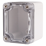 Boxco BC-ATS-050605 Screw Cover Enclosure, Clear Cover, ABS Plastic