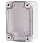 Boxco BC-ATS-060905 Screw Cover Enclosure, Clear Cover, ABS Plastic