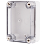Boxco BC-ATS-081104 Screw Cover Enclosure, Clear Cover, ABS Plastic