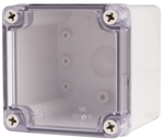 Boxco BC-ATS-101010 Screw Cover Enclosure, Clear Cover, ABS Plastic