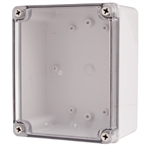 Boxco BC-ATS-141709 Screw Cover Enclosure, Clear Cover, ABS Plastic