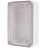 Boxco BC-ATS-142309 Screw Cover Enclosure, Clear Cover, ABS Plastic