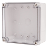Boxco BC-ATS-151507 Screw Cover Enclosure, Clear Cover, ABS Plastic