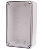 Boxco BC-ATS-152510 Screw Cover Enclosure, Clear Cover, ABS Plastic