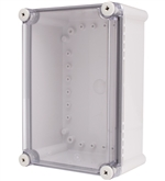 Boxco BC-ATS-192813 Screw Cover Enclosure, Clear Cover, ABS Plastic