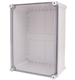 Boxco BC-ATS-283813 Screw Cover Enclosure, Clear Cover, ABS Plastic