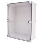 Boxco BC-ATS-334318 Screw Cover Enclosure, Clear Cover, ABS Plastic