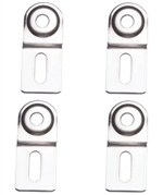 Boxco Small Steel Wall Mount Bracket, 4 Pack