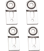 Boxco Large Steel Wall Mount Bracket, 4 Pack