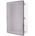 Boxco BC-CTP-406018 Hinged Lid Enclosure, Clear Cover, Polycarbonate