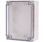 Boxco BC-CTS-121707 Screw Cover Enclosure, Clear Cover, Polycarbonate