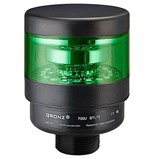 Qronz 1 Stack LED Tower Light, Green, Quick Disconnect, 24V