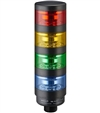 Qronz 70mm Clear Lens 4 Stack LED Tower Light, Lead Wire, 12V