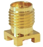 Mueller SMA Connector Jack, Surface Mount, 50 Ohm, Gold Plated Brass