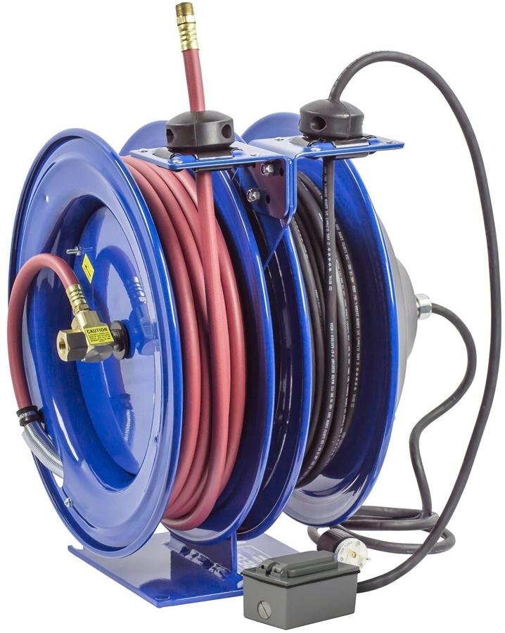 Coxreels C-L350-5012-F Dual Purpose Reel, Duplex Receptacle