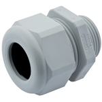 M12 Gray Plastic Dome Strain Relief Fitting
