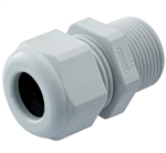 Gray Nylon Plastic Elongated Cable Gland