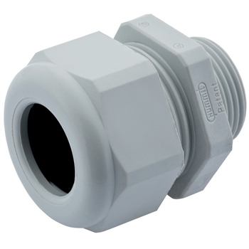 Gray Nylon Plastic Strain Relief Fitting