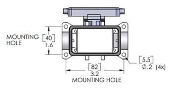ILME CHP-10LS2 C-Type Surface Mount Housing Size 57.27 Aluminum 1 Lever w// Cover
