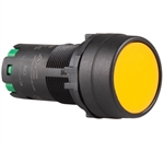 Deca CP2B-A1E10Y 22 mm Maintained Push Button, Flush Head, Yellow