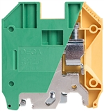Deca CPE16 Screw Clamp DIN Rail Ground Terminal Block