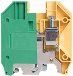 Deca CPE35 Screw Clamp DIN Rail Ground Terminal Block