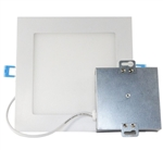 "Euri Lighting 12W 6"" Slim Square LED Down Light, 4000K"