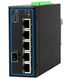 Mencom E45UM-6M-4POE-1SFP-EX 6 Port Unmanaged Gigabit Ethernet Switch