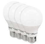 Euri Lighting 9W A19 LED Light, 3000K, 4 Pack, Dimmable