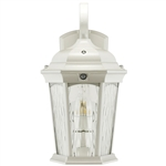 Euri Lighting 12.5W LED White Wall Lantern, 3000K, Water Glass Lens
